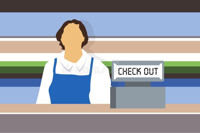 De Bewaarder van de winkel vector illustratie