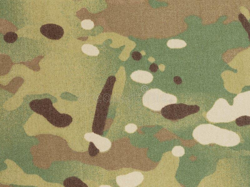 De bewapende stof van de kracht multicam camouflage royalty-vrije stock foto's