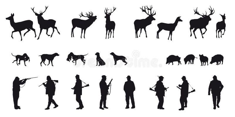 De beweging veroorzakende jacht van dieren en landscapes18 royalty-vrije illustratie