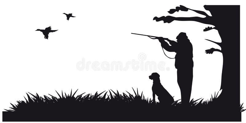 De beweging veroorzakende jacht van dieren en landscapes2 royalty-vrije illustratie