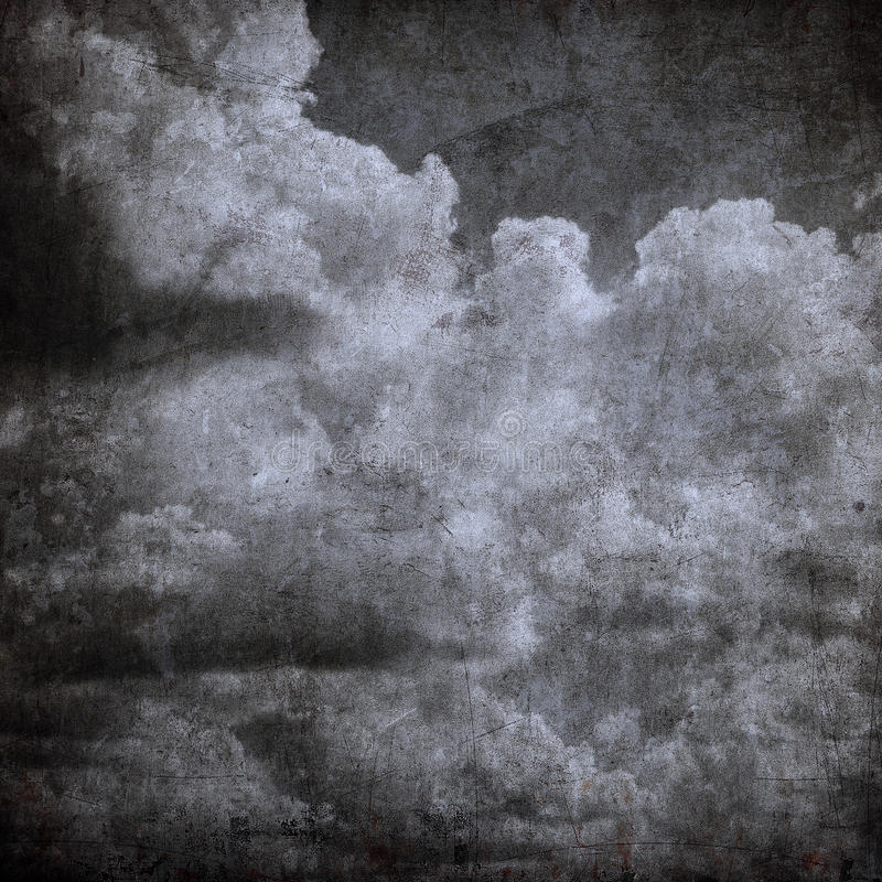 De bewolkte hemel van Grunge, perfecte Halloween achtergrond royalty-vrije illustratie