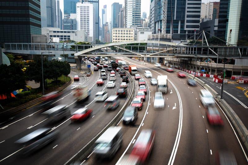 De bezige stad van Hongkong stock afbeelding