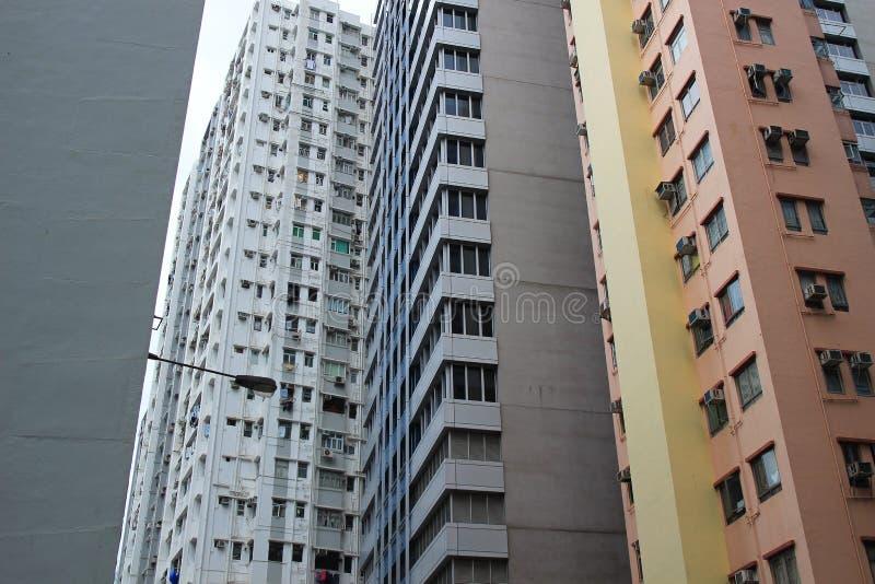 De bezige stad van Wan Chai Hong Kong stock afbeeldingen