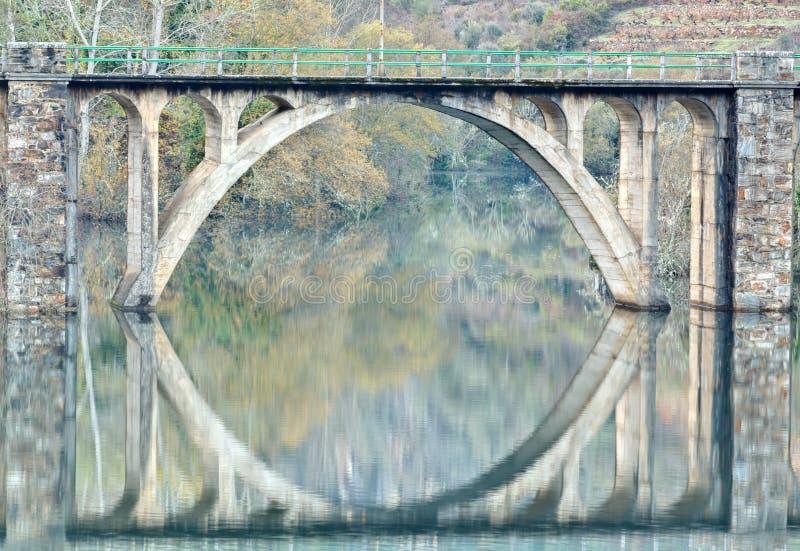 De Bezinning van de brug royalty-vrije stock foto's