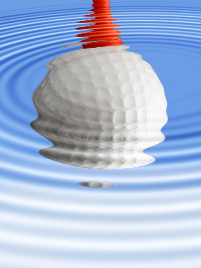 De bezinning van de golfbal vector illustratie