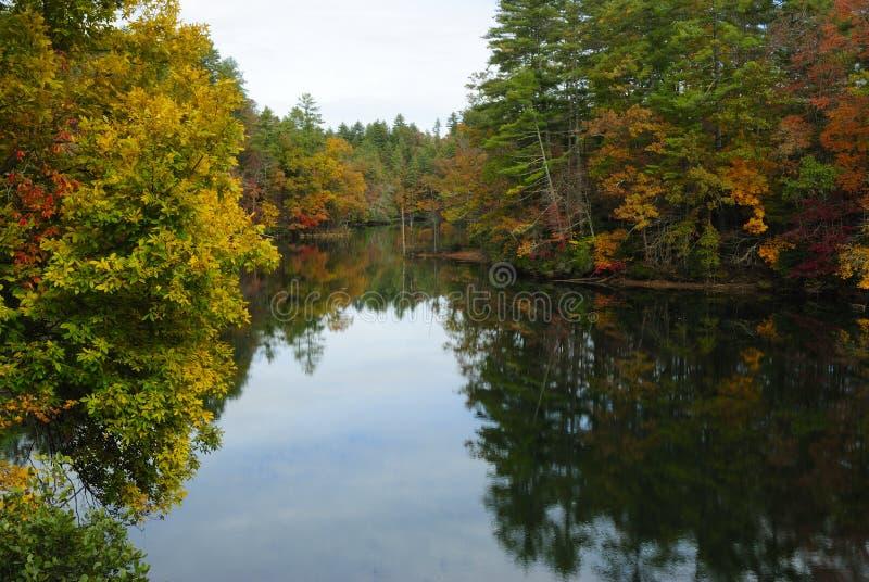 De Bezinning van de herfst stock afbeelding