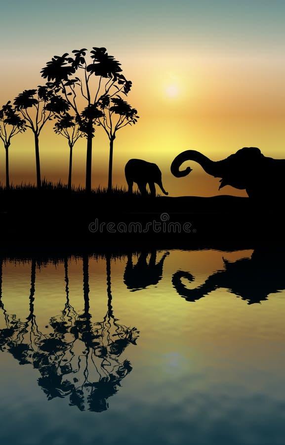 De Bezinning van de olifant vector illustratie