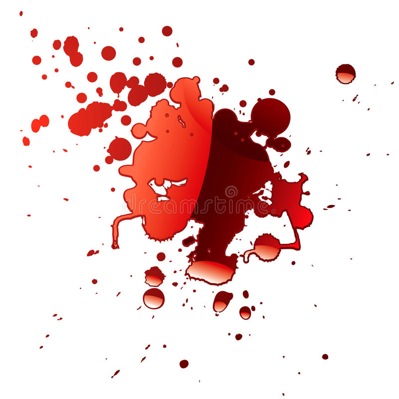 De bezinning van het bloed royalty-vrije illustratie