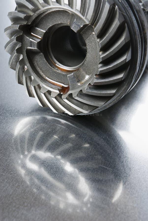 De bezinning van het mechanisch-deel stock foto