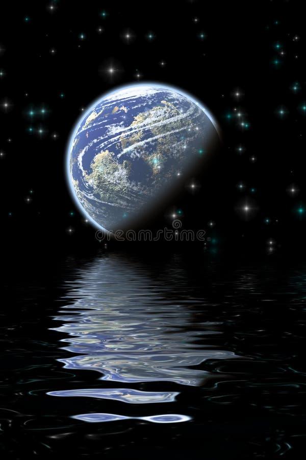 De bezinningen van de maan vector illustratie