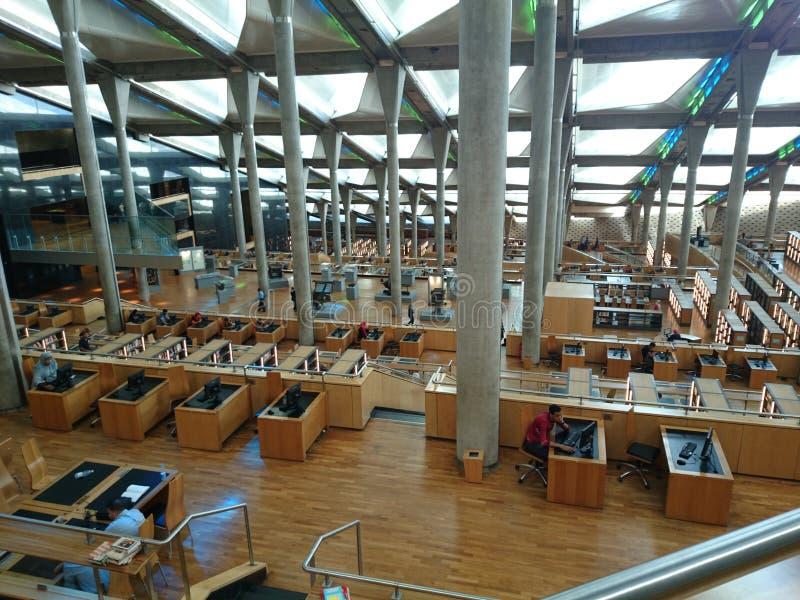 De bibliotheek van Alexandrië stock fotografie