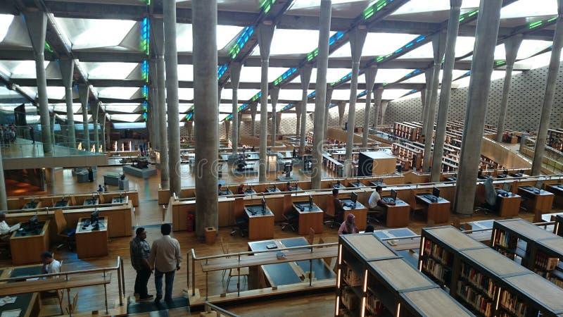 De bibliotheek van Alexandrië royalty-vrije stock foto