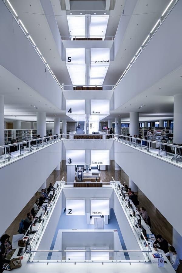 De Bibliotheek van Amsterdam royalty-vrije stock afbeelding