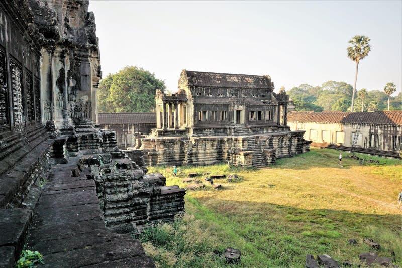 De bibliotheek van Angorkambodja royalty-vrije stock fotografie