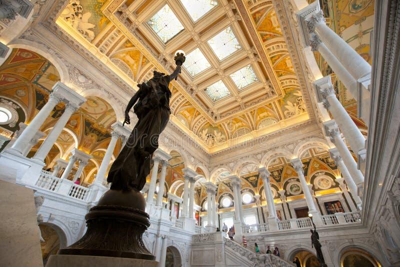 De bibliotheek van Congres royalty-vrije stock afbeelding