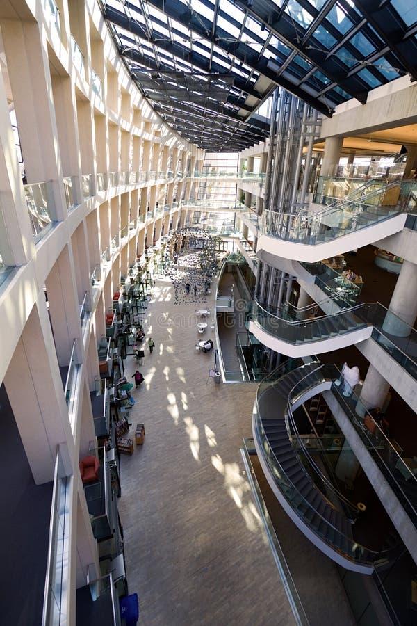 De Bibliotheek van de binnenstad in Salt Lake City, UT. royalty-vrije stock afbeelding
