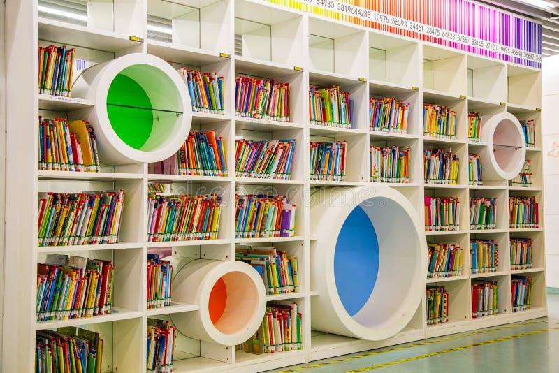 De bibliotheek van de Guangzhoustad, Guangdong, China stock foto