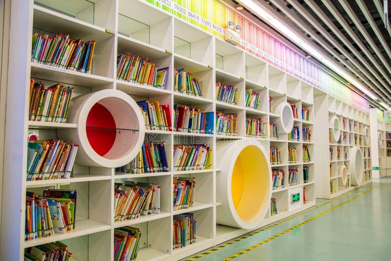 De bibliotheek van de Guangzhoustad, Guangdong, China stock fotografie
