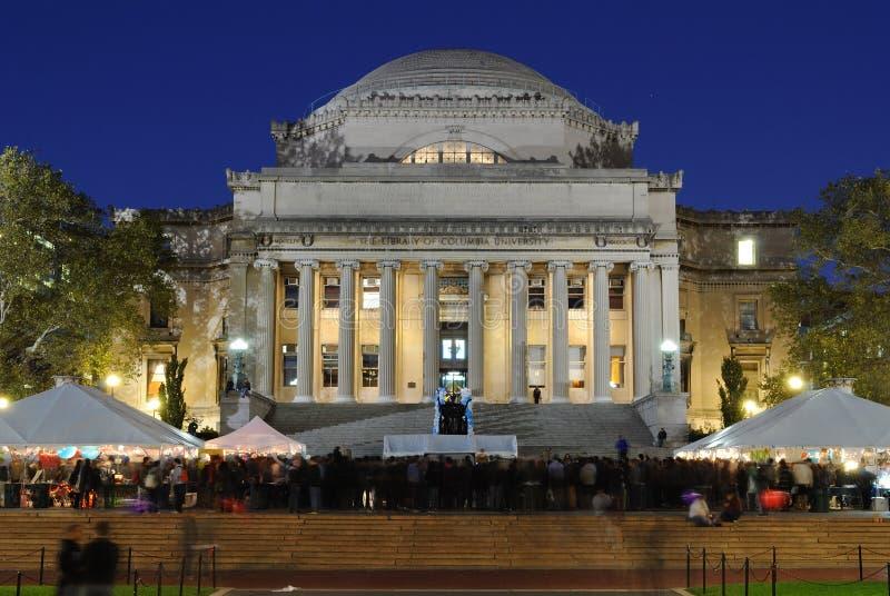 De bibliotheek van de Universiteit van Colombia royalty-vrije stock afbeelding