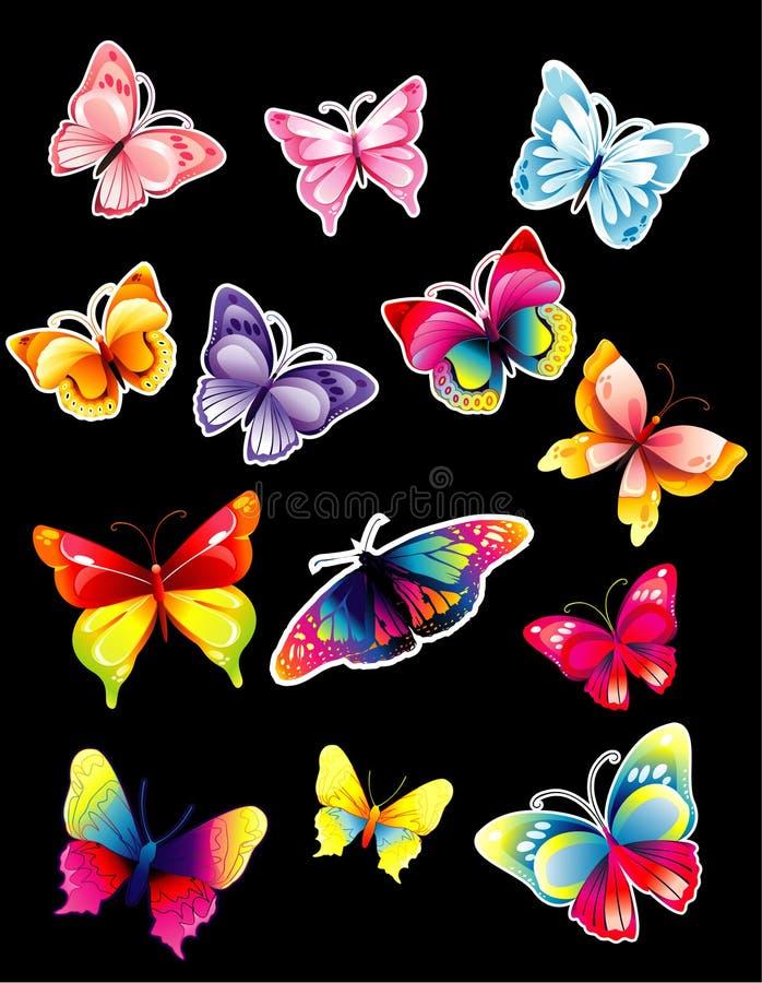 De bibliotheek van de vlinder royalty-vrije illustratie