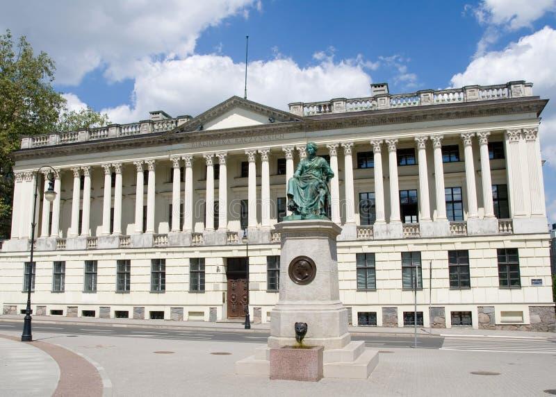 De Bibliotheek van Raczynski in Poznan stock foto
