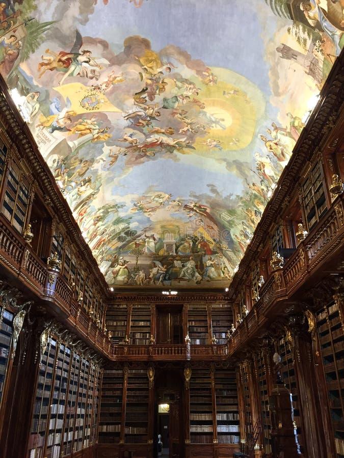 De Bibliotheek van Strahov in Praag royalty-vrije stock fotografie