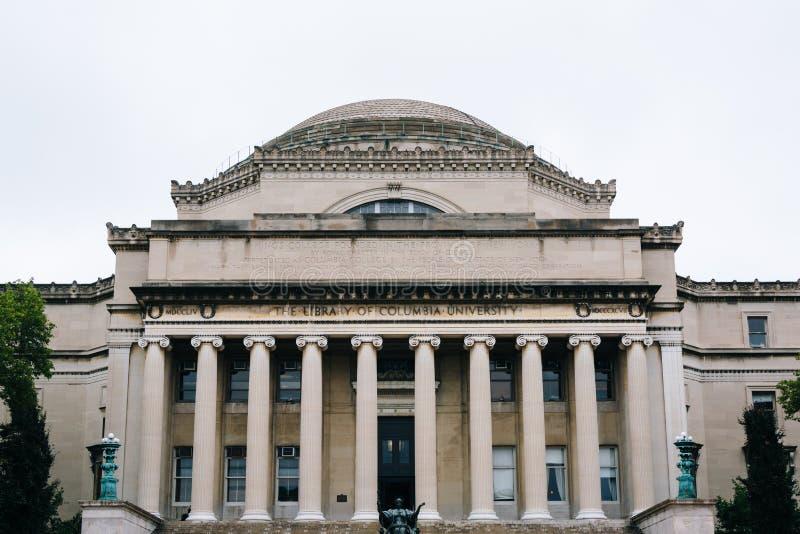 De Bibliotheek van de Universiteit van Colombia, in Morningside-Hoogten, de Stad van Manhattan, New York royalty-vrije stock foto's