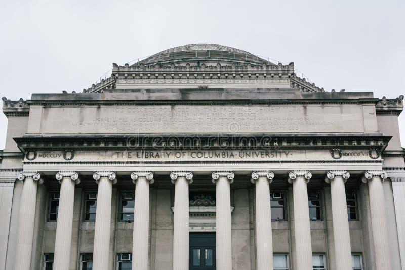 De Bibliotheek van de Universiteit van Colombia, in Morningside-Hoogten, de Stad van Manhattan, New York royalty-vrije stock afbeeldingen