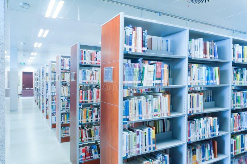 De bibliotheekbinnenland van de Hubeiprovincie royalty-vrije stock afbeelding