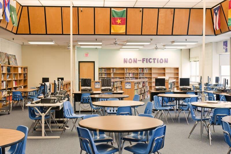 De bibliotheekmedia van de school centrum royalty-vrije stock afbeelding