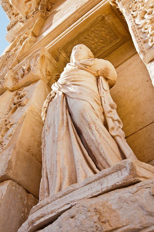 De bibliotheekstandbeeld van Celsus in Ephesus royalty-vrije stock fotografie
