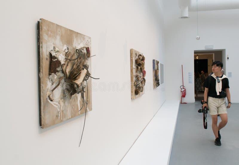 De Biennale Di Venezia ` Viva Arte Viva ` Italië stock fotografie