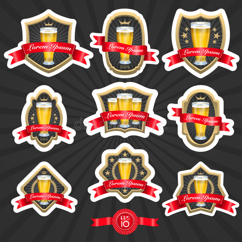 De bieretiketten plaatsen 2 royalty-vrije illustratie