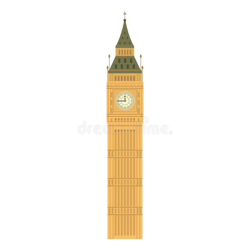 De Big Ben-de architectuur van de torengeschiedenis royalty-vrije illustratie