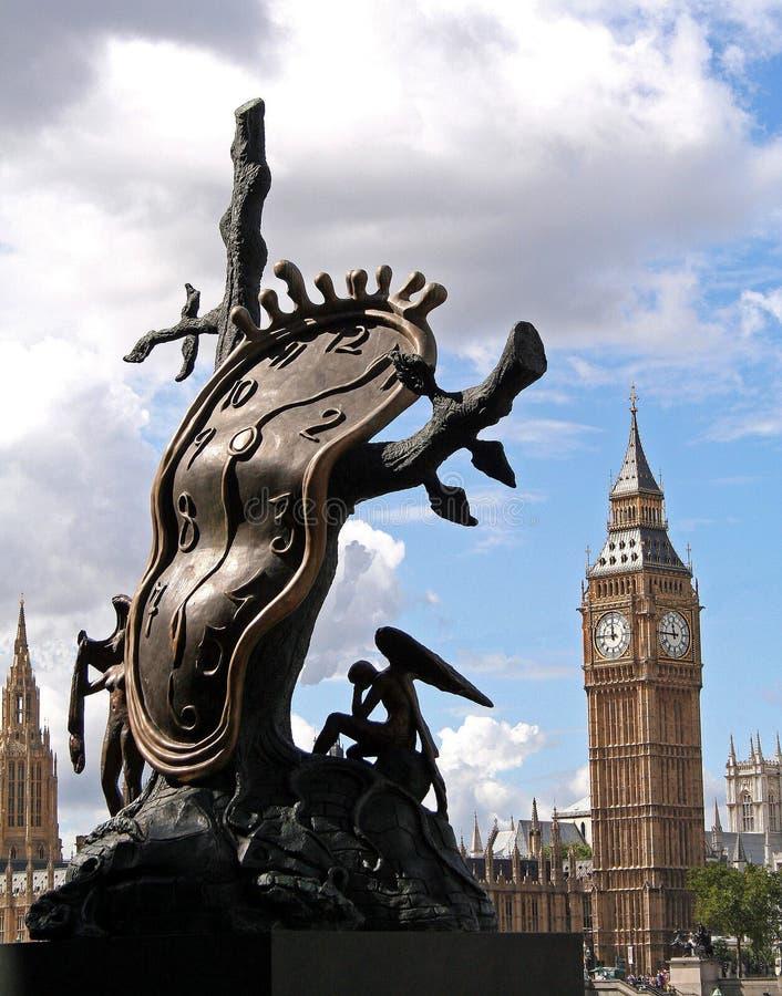 De Big Ben en Beeldhouwwerk royalty-vrije stock afbeeldingen