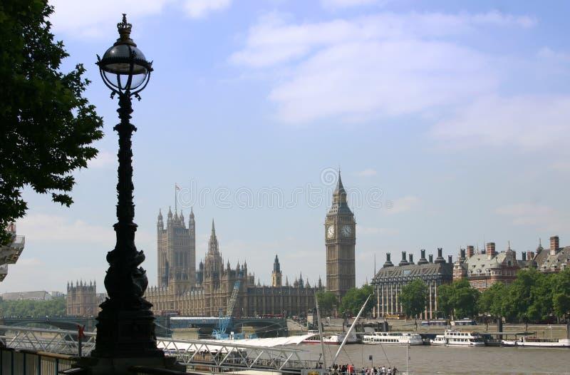 De Big Ben en Huis van het Parlement - Londen royalty-vrije stock afbeeldingen