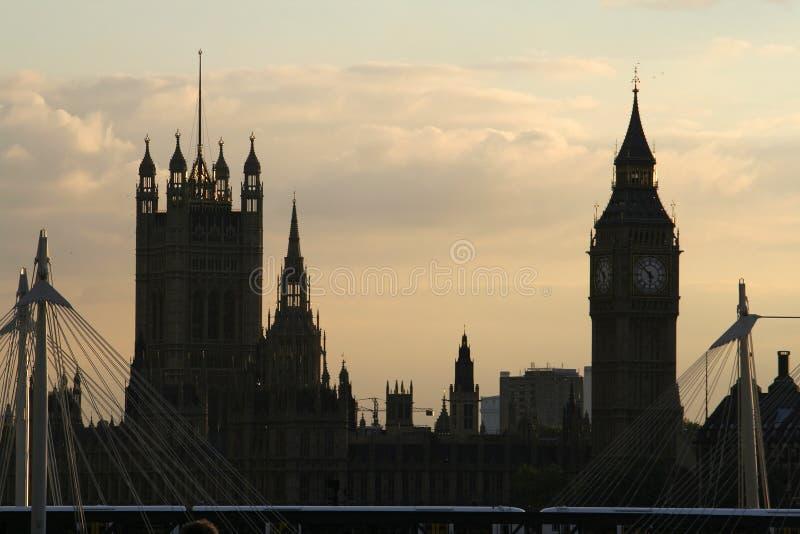 De Big Ben en Huizen van het Parlement stock foto