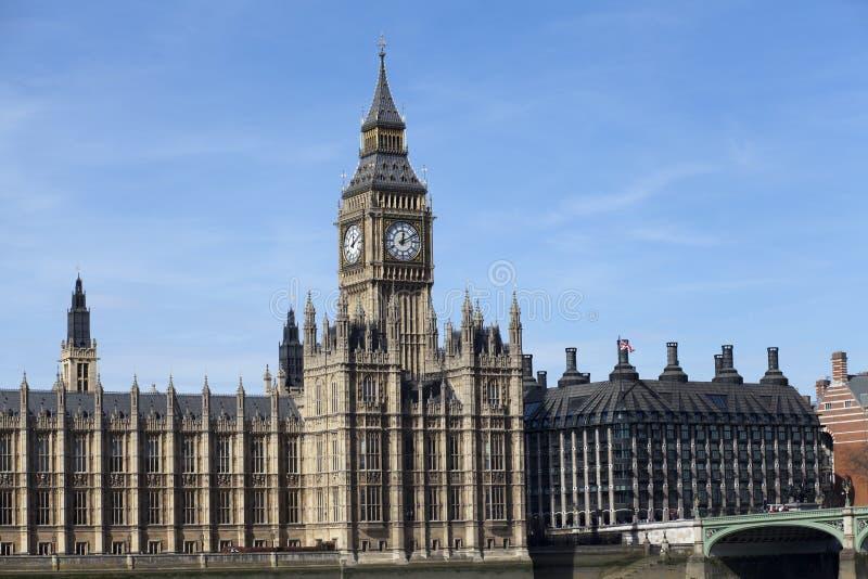 De Big Ben en Westminster in Londen royalty-vrije stock afbeelding