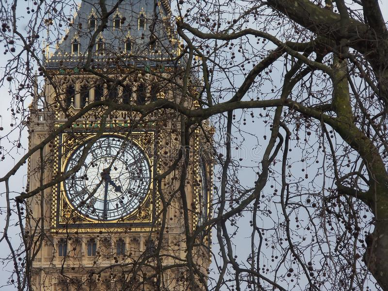 De Big Ben in Londen stock afbeeldingen