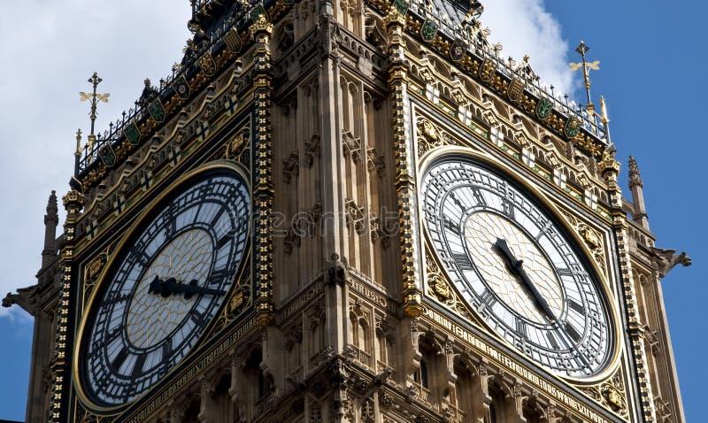 De Big Ben in Londen Engeland royalty-vrije stock foto's