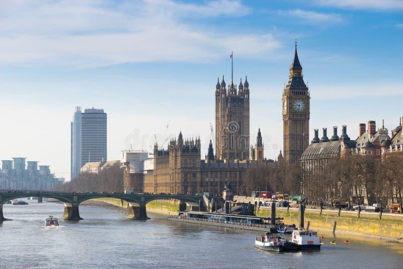 De Big Ben, Londen, Engeland stock fotografie
