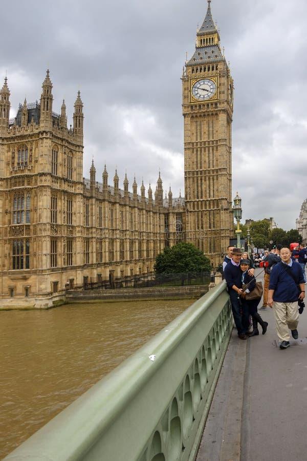 De Big Ben Londen, Engeland, het UK stock fotografie