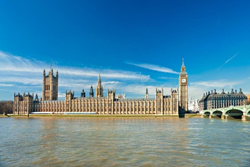 De Big Ben, Londen, het UK. royalty-vrije stock afbeelding