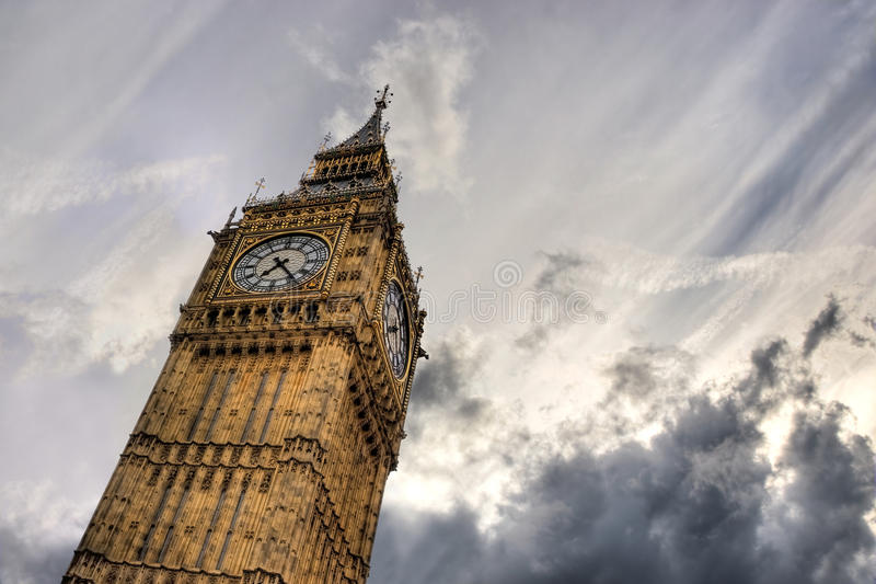 De Big Ben, Londen, het UK royalty-vrije stock foto