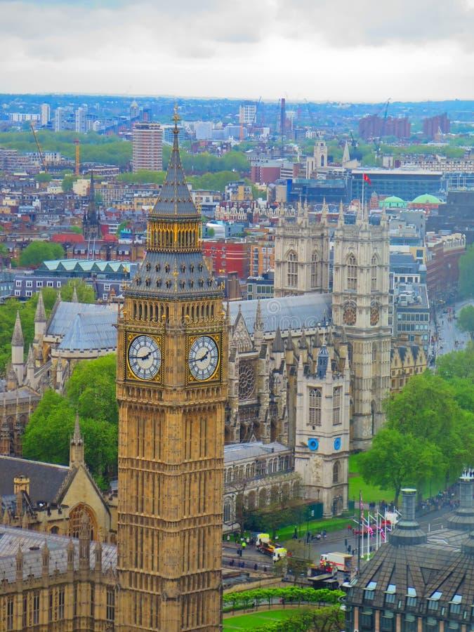 De Big Ben-mening royalty-vrije stock foto's