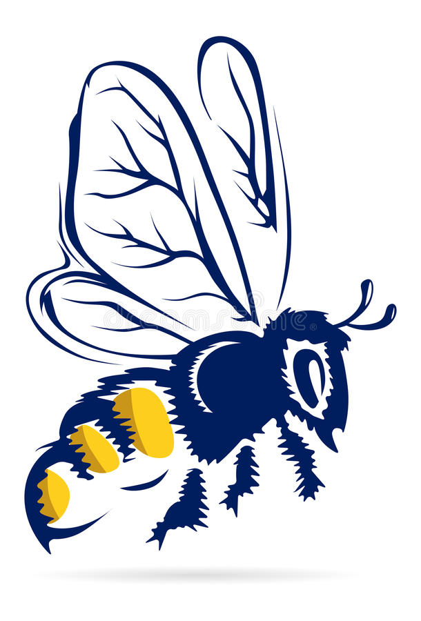 De bij van de honing royalty-vrije illustratie