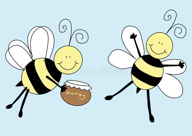 De bijen van Nice royalty-vrije illustratie