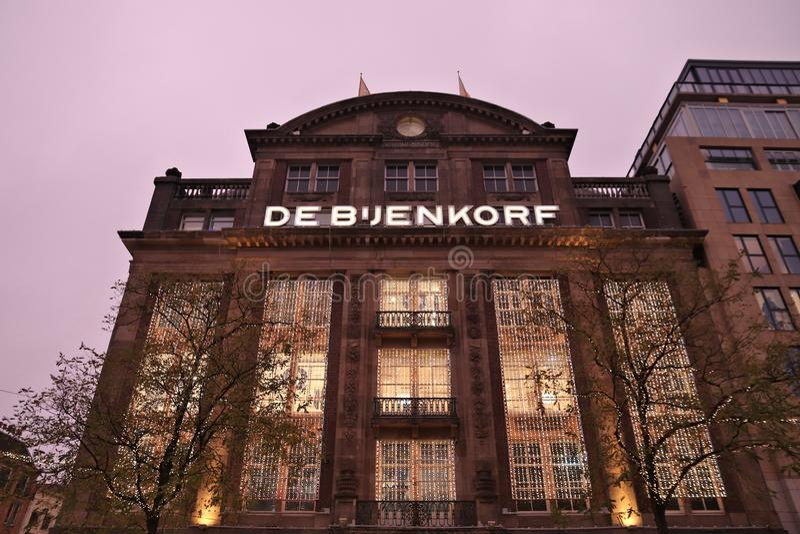 De Bijenkorf, Amsterdam images libres de droits