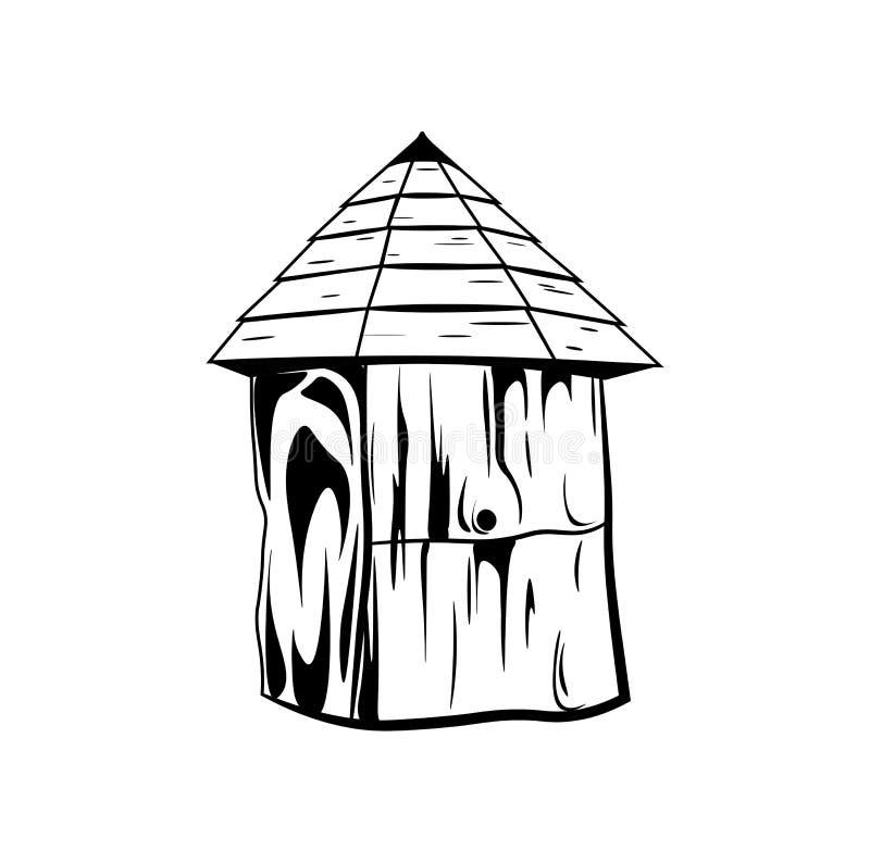 De bijenkorf van het bijenhuis Honings vectorillustratie die op wit wordt geïsoleerd stock illustratie