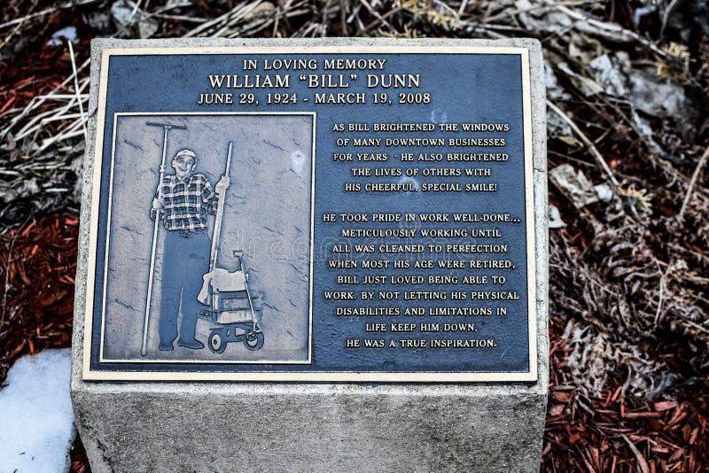 ` de Bill de ` de William Dunn Memorial - Janesville, WI images stock